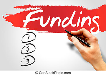 FUNDING blank list, business concept