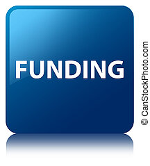 Funding blue square button
