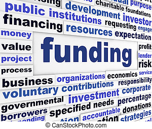 Funding business words message. Investment financial conceptual background