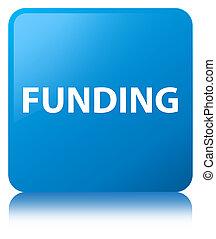 Funding cyan blue square button