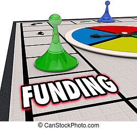 Funding Financial Backing Investment Money Resources Board Game Winner