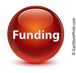 Funding glassy brown round button