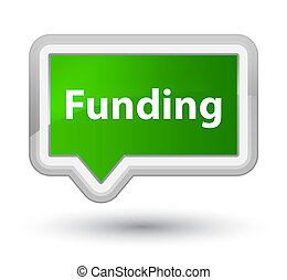 Funding prime green banner button