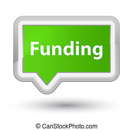 Funding prime soft green banner button