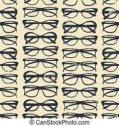fundo, óculos