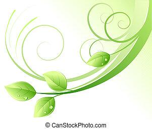 fundo, abstrato verde
