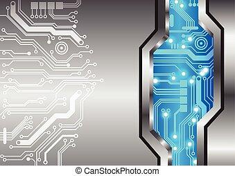fundo, abstratos, metal, textura, circuito, tecnologia
