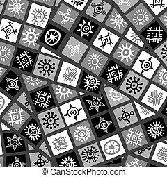 fundo, abstratos, pretas, arabescos, africano, branca
