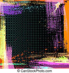 fundo, abstratos, vetorial, grunge
