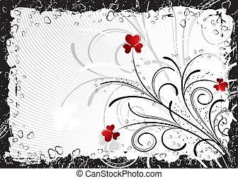 fundo, abstratos, vetorial, valentines