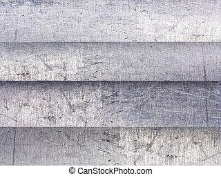 fundo, alumínio