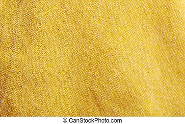 fundo amarelo, têxtil, close-up