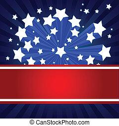 fundo, americano, starburst