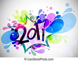 fundo, ano novo