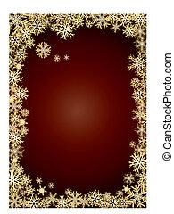 fundo, ano novo, ouro, snowflakes