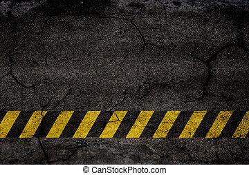 fundo, asfalto