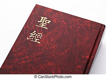 fundo, bíblia, branca
