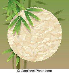 fundo, bambu