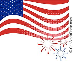 fundo, bandeira, americano, vetorial