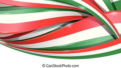 fundo, bandeira, mexicano, italiano