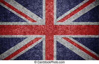 fundo, bandeira papel, inglaterra