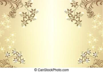 fundo, bonito, abstratos, floral