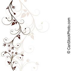 fundo, bonito, floral
