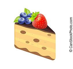 fundo branco, bolo queijo, moranguinho, isolado
