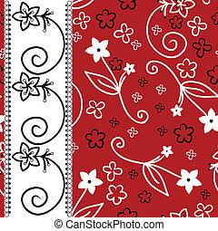 fundo branco, listra, vertical, vermelho