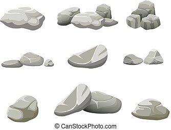 fundo branco, pedras