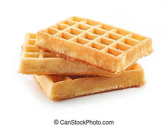 fundo branco, waffles