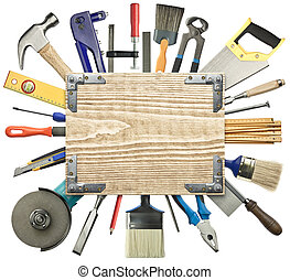 fundo, carpintaria