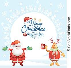 fundo, cartão, natal