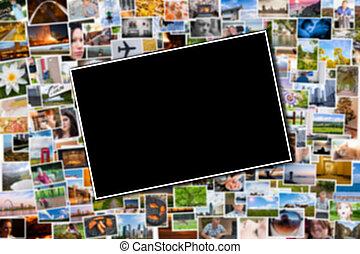 fundo, cartão postal, foto, obscurecido, fotografias, modelo, ou