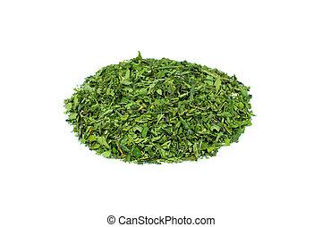 fundo, chá, verde, montão, cânhamo, branca