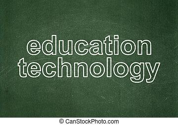 fundo, chalkboard, aprendizagem, tecnologia educação, concept: