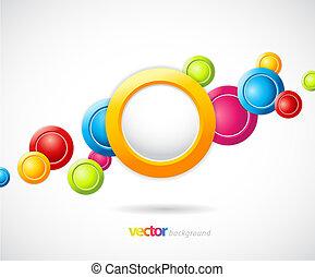 fundo, coloridos, circles., abstratos