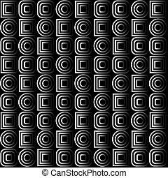 fundo, com, óptico, efeitos, em, preto branco