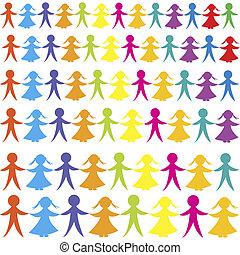 fundo, com, colorido, crianças