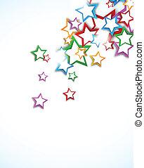 fundo, com, estrelas