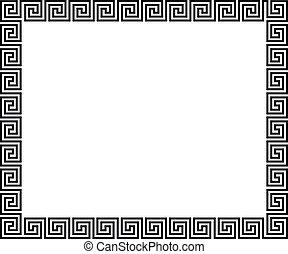 fundo, com, grego, ornamento