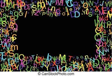 fundo, com, letters.
