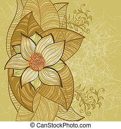 fundo, com, magnólia, flores