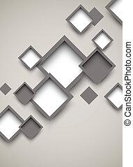 fundo, com, quadrados