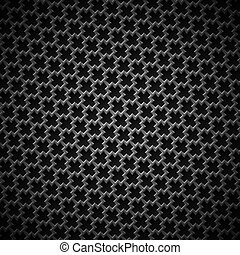 fundo, com, seamless, pretas, carbono, textura