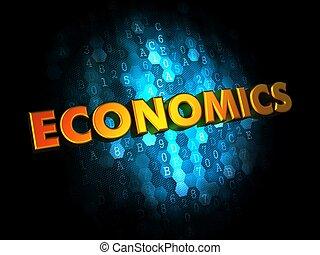 fundo, conceito,  digital, economia