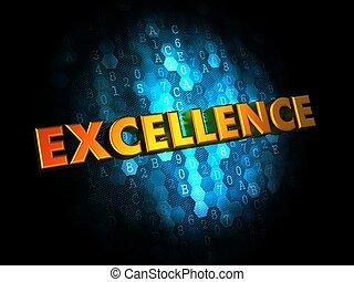 fundo, conceito, excelência,  digital