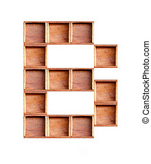 fundo, consoante, madeira, isolado, feito, branca, caixa