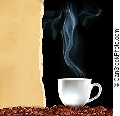 fundo, copo, café