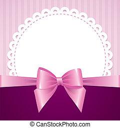 fundo cor-de-rosa, arco